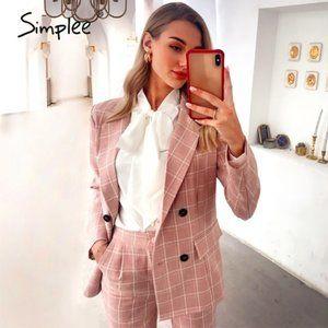 Simplee Pink Blazer